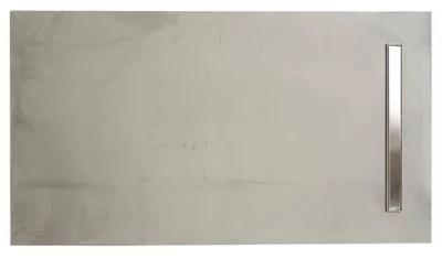 receveur a carreler gris liquid line 140 x 90 cm