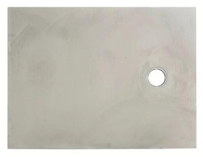 receveur a carreler rectangulaire gris q board liquid 90 x 120 cm