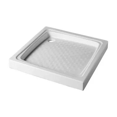 receveur de douche a poser gres blanc 80 x 80 cm
