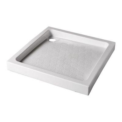 receveur de douche a poser gres blanc 90 x 90 cm