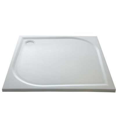 receveur extra plat blanc cooke lewis limski 90 x 90 cm