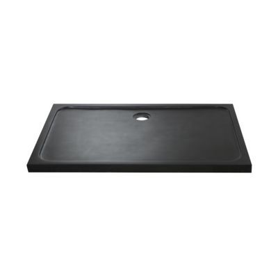 receveur pierre naturelle noire harmon 120 x 80 cm