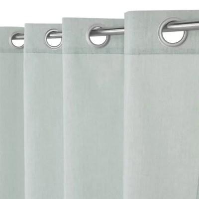 rideau cosy vert de gris 140 x 240 cm