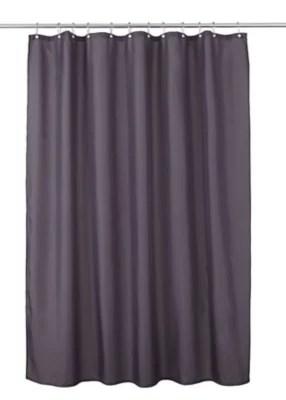 rideau de douche tissu gris uni 180 x 200 cm diani