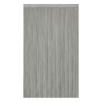 rideau de fils colours defil argent 110 x 240 cm