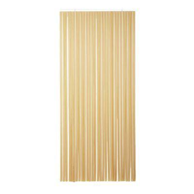 rideau de porte a lanieres pvc brun beige 100 x 220 cm