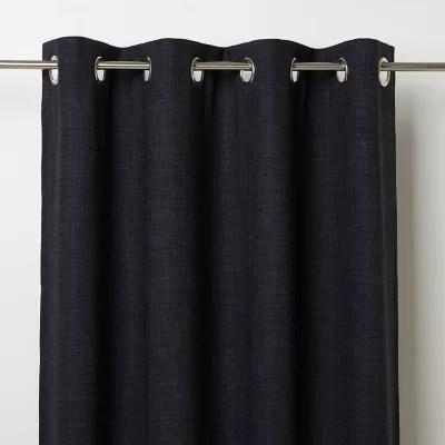 rideau occultant goodhome novan noir 140 x 260 cm
