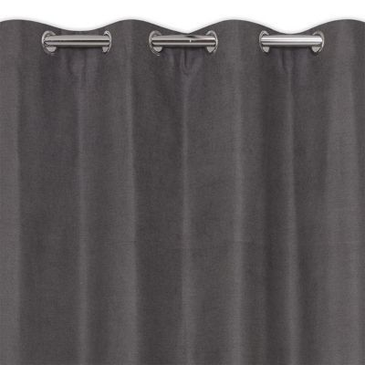 rideau occultant thermique gris anthracite 135 x 240 cm