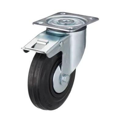 roulette pivotante a platine pivotante o125 mm charge max 100 kg