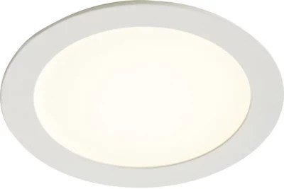 spot a encastrer extra plat led integree colours octave ip20 blanc metal 850 lm