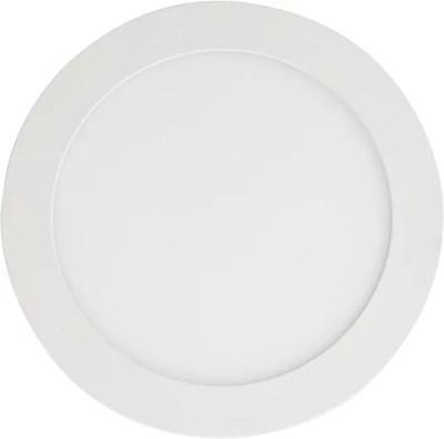 spot a encastrer extra plat led integree colours octave ip20 blanc metal 850 lm