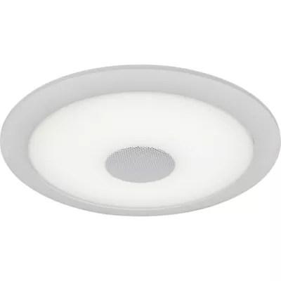 spot a encastrer led integree colours pyrros ip44 blanc o22 cm