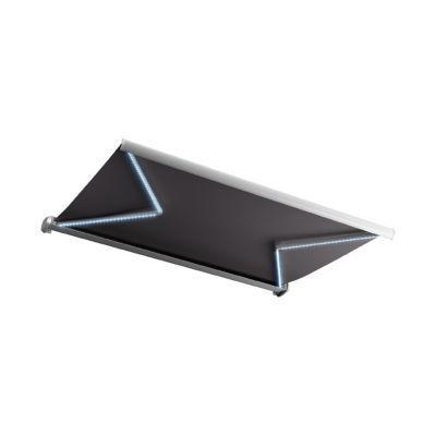 store de terrasse coffre integral motorise blooma avec led cendre 5 x 3m