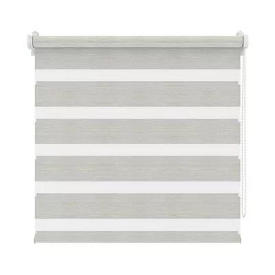 store enrouleur jour nuit polyester gris 42 x 160 cm