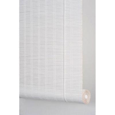 store enrouleur tamisant bois tisse ballauff blanc 60 x 180 cm