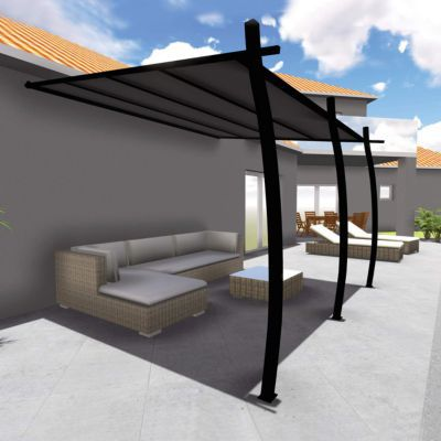 structure tonnelle solea 3 35 x 4 m