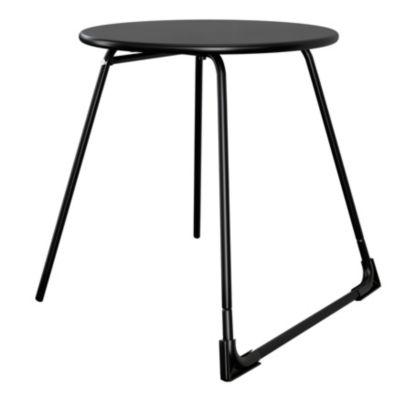 table basse de jardin goodhome morillo acier noir o50 cm