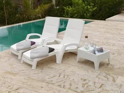 table basse de jardin polypropylene ocean blanc 58 x 48 cm