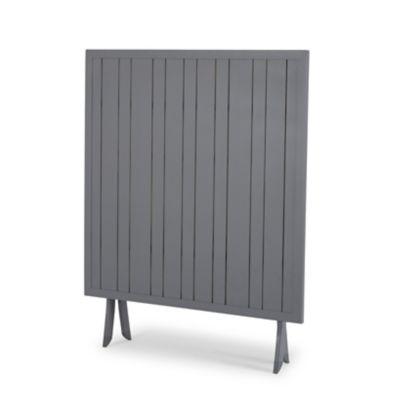 table de jardin batang en aluminium gris pliante 100 x 100 cm