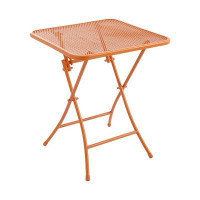 Table De Jardin Chiva Mandarine Pliante 60 X 60 Cm Castorama