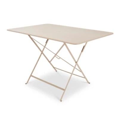 table de jardin en metal bistro muscade pliante 117 x 77 cm fermob