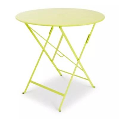 table de jardin en metal bistro verveine pliante o77 cm fermob