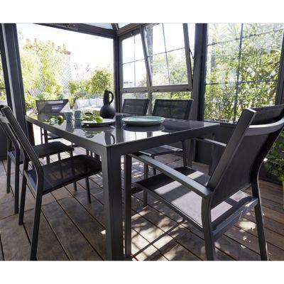 table de jardin en metal halis 180 x 90 cm