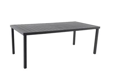 table de jardin en metal tanna grise anthracite 200 x 100 cm
