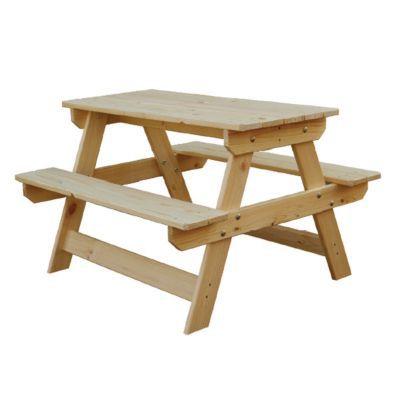 table pique nique enfant en bois rockall 85 x 75 cm