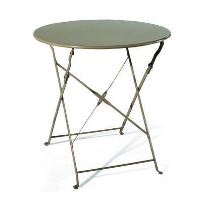 table ronde saba poivre pliante o70cm