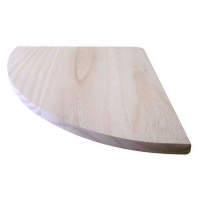 tablette d angle pin naturel form 30 x 30 cm
