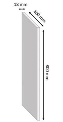 tablette melamine blanc 40 x 80 cm ep 1 8 cm