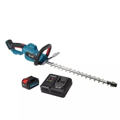 taille haie sans fil sur batterie 18v erbauer 55 cm avec batterie et chargeur