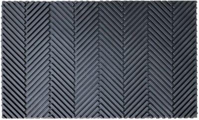 tapis caoutchouc chevron 45 x 75 cm
