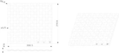 tapis d evier goodhome datil l 30 x h 27 cm