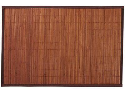 tapis de bain antiderapant bambou fonce 60 x 120 cm okaido