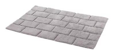 tapis de bain antiderapant silver 60 x 90 cm managua