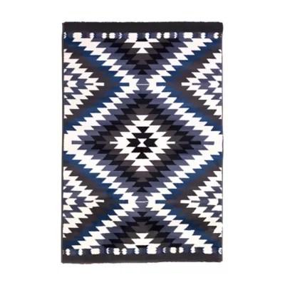 tapis gypsy bleu 150 x 200 cm