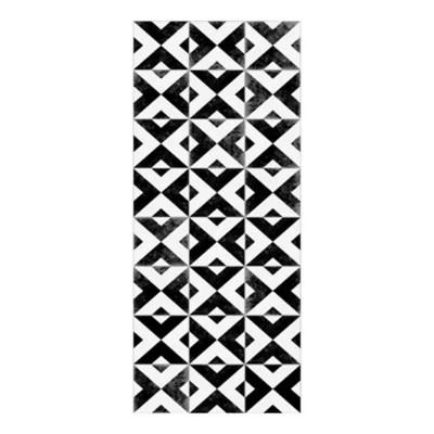 tapis vinyle croix ciment noir et blanc 49 5 x 116 cm