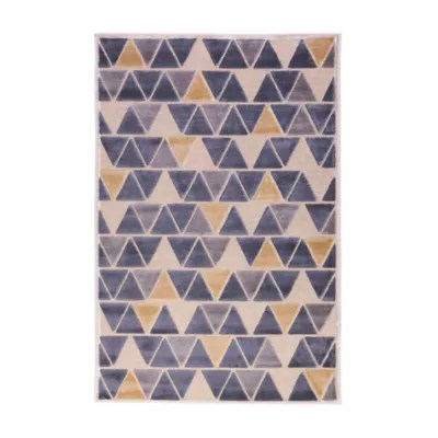 tapis vision petits triangles 150 x 200 cm