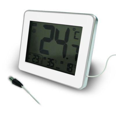 thermometre avec sonde filaire int ext otio blanc