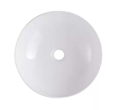 vasque a poser ceramique blanc goodhome ondava