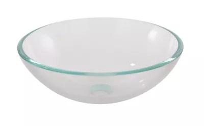 vasque a poser ronde verre trempe transparent cooke lewis drina