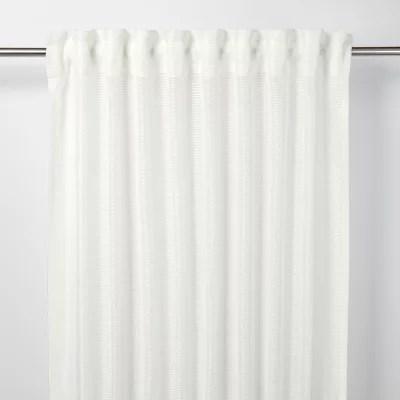 voilage goodhome fola blanc 140 x 260 cm