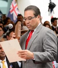 Alden McLaughlin, Cayman Islands Premier (Photo by Dennie Warren Jr)