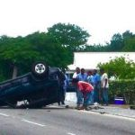 Car overturns in Brac road crash