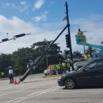 Key George Town traffic light system falls down