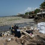 Over 30 tonnes of plastic rolls on to regional beach
