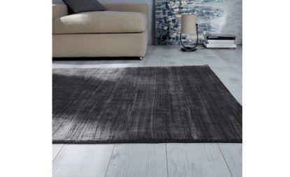tapis justine uni brillant gris