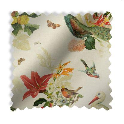 tissu herba motif tropical lin
